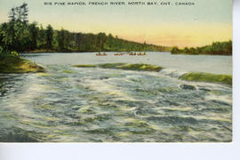 Big Pine Rapids, French River, North Bay, Ont., Canada.