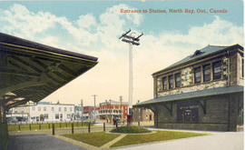 Entrance to Station, North Bay, Ont., Canada.