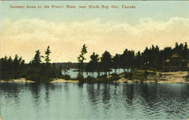 Summer home on the French River near North Bay, Ont., Canada. 109.914 JN.