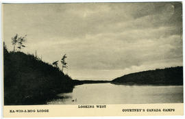 Ka-wig-a-mog Lodge, Looking West, Courtney's Canada Camps.