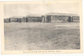 Barracks at N.P.A.M. Camp 22, North Bay, Canada.