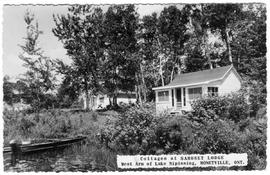 Cottages at Samoset Lodge, West Arm of Lake Nipissing, Monetville, Ont.